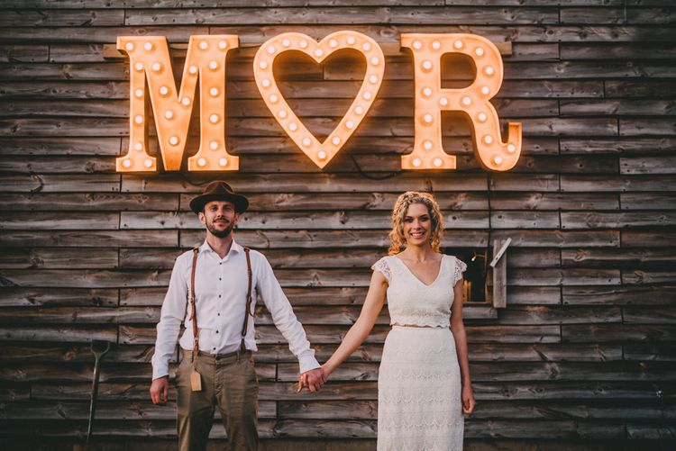 Light Up Circus Letters For The Bride and Groom