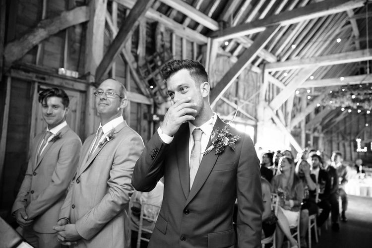 Groom in Paul Smith Suit at The Altar