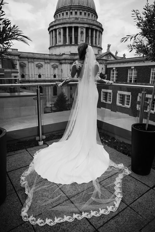 Bride in Martina Liana from Essense of Australia Bridal Gown
