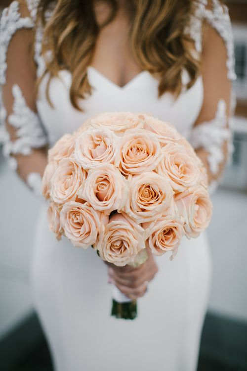 Peach Rose Bouquet from Bonnie's Blooms
