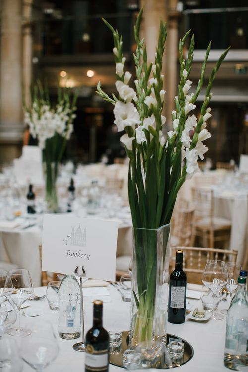 White Stock Centrepiece