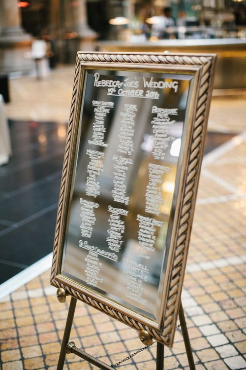 Elegant Mirror Table Plan