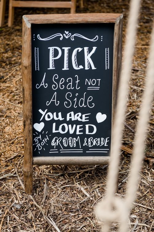 Chalkboard Order of The Day Wedding Sign   Turner & Moss Photography