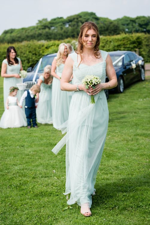Bridesmaid in Pale Green Dessy DressesTurner & Moss Photography