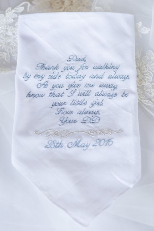 Embroidered Handkerchief   Turner & Moss Photography