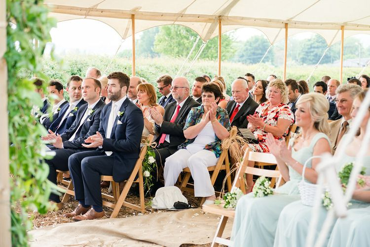 Wedding Party   Outdoor Wedding Ceremony at Church Farm   Turner & Moss Photography