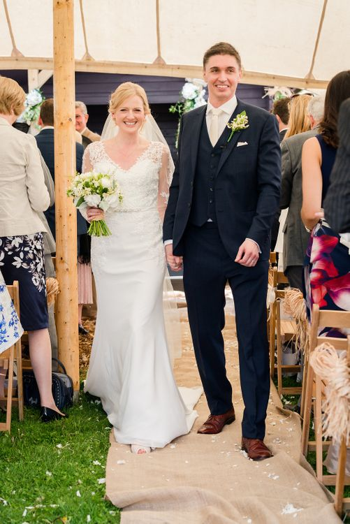 Outdoor Wedding Ceremony at Church Farm   Turner & Moss Photography