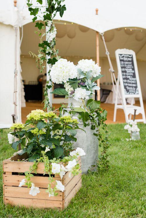 Elegant Greenery & White Rustic Marquee Wedding at Church Farm   Turner & Moss Photography