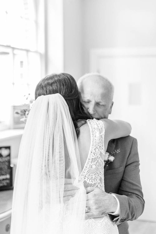 Father of The Bride First Look | Elegant Pastel Wedding at Gaynes Park, Essex | White Stag Wedding Photography | At Motion Film
