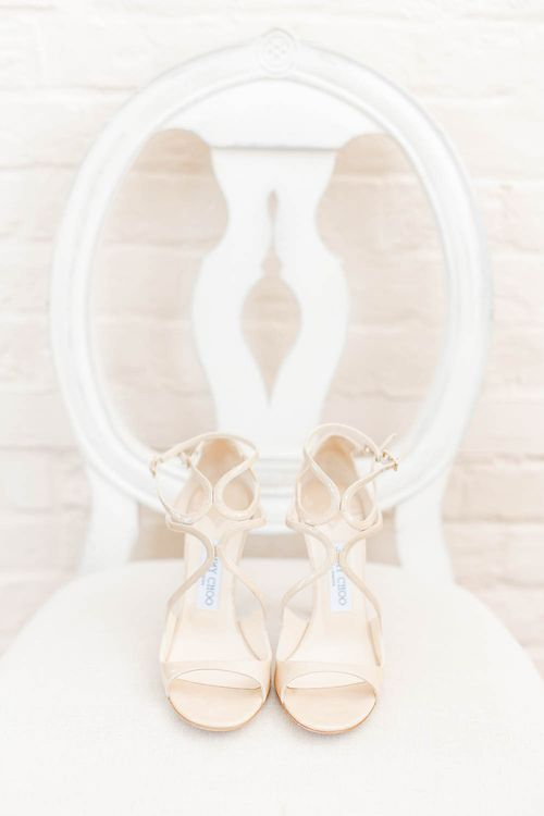 Jimmy Choo Bridal Shoes | Elegant Pastel Wedding at Gaynes Park, Essex | White Stag Wedding Photography | At Motion Film