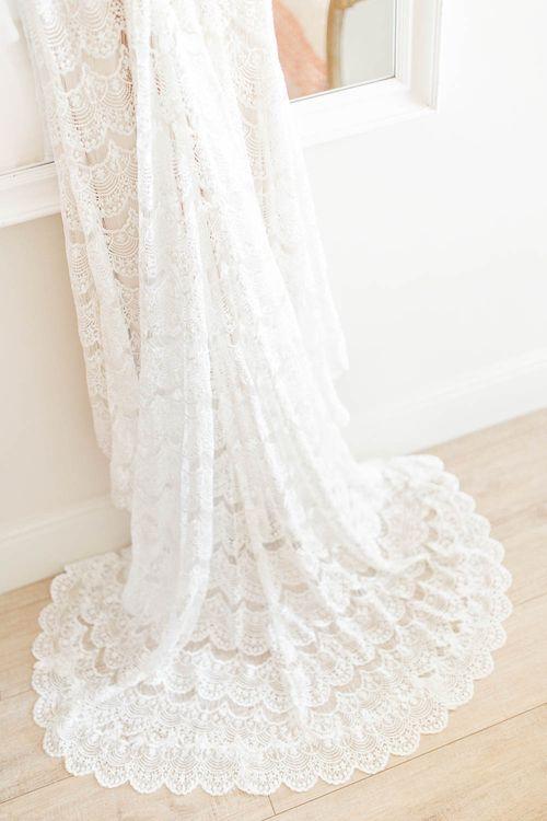 Lace Wedding Dress from Blackburn Bridal | Elegant Pastel Wedding at Gaynes Park, Essex | White Stag Wedding Photography | At Motion Film