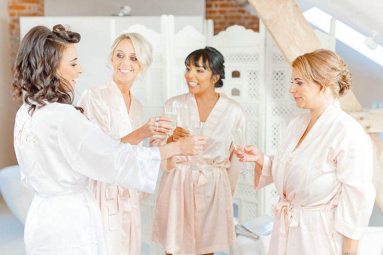 Wedding Morning Bridal Party Preparations | Elegant Pastel Wedding at Gaynes Park, Essex | White Stag Wedding Photography | At Motion Film