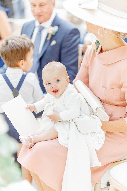 Baby Wedding Guest | Elegant Pastel Wedding at Gaynes Park, Essex | White Stag Wedding Photography | At Motion Film