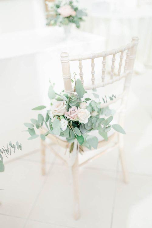 Aisle Wedding Flowers | Elegant Pastel Wedding at Gaynes Park, Essex | White Stag Wedding Photography | At Motion Film