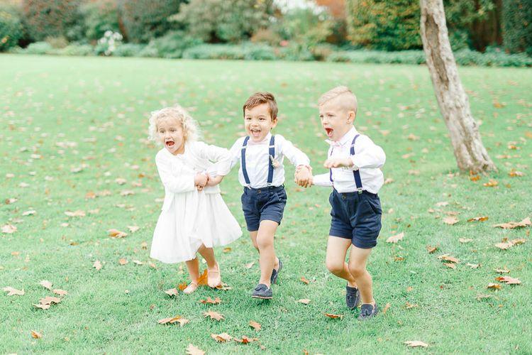 Kids at Weddings | Elegant Pastel Wedding at Gaynes Park, Essex | White Stag Wedding Photography | At Motion Film