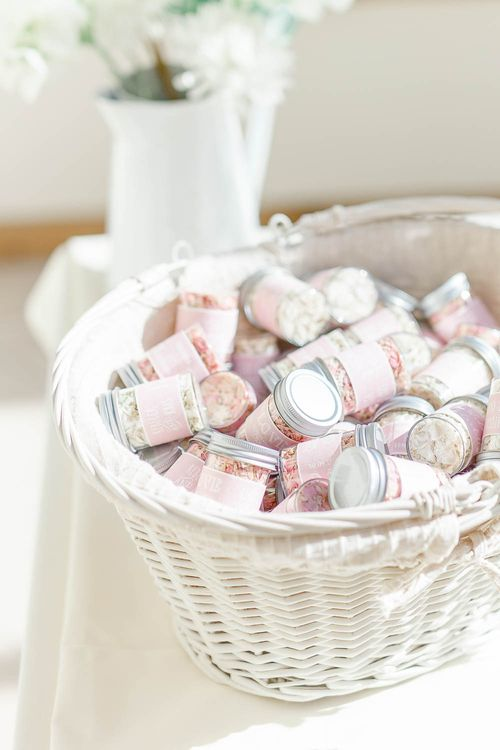 Confetti Pots | Elegant Pastel Wedding at Gaynes Park, Essex | White Stag Wedding Photography | At Motion Film
