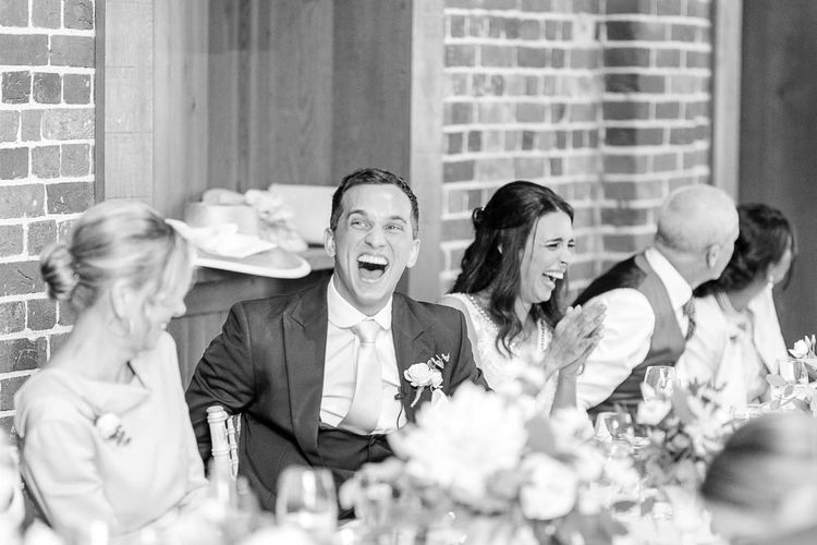 Speeches | Elegant Pastel Wedding at Gaynes Park, Essex | White Stag Wedding Photography | At Motion Film