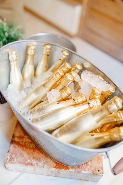 Champagne Barrow | Elegant Pastel Wedding at Gaynes Park, Essex | White Stag Wedding Photography | At Motion Film