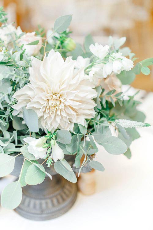 Beautiful Dahlia | Elegant Pastel Wedding at Gaynes Park, Essex | White Stag Wedding Photography | At Motion Film