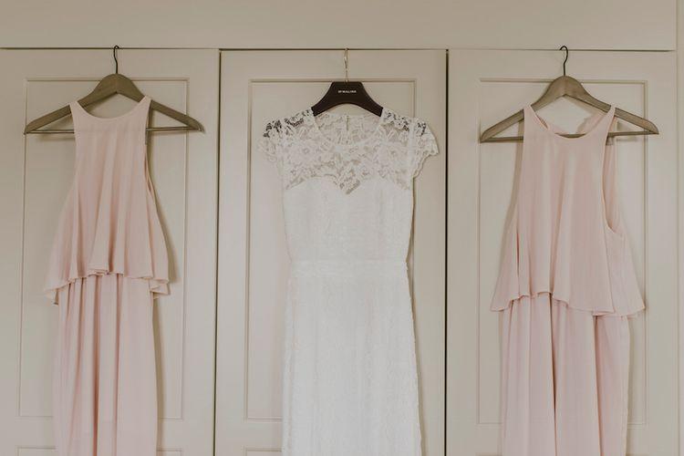 Lace By Malina Bridal Gown & Baby Pink ASOS Bridesmaid Dresses