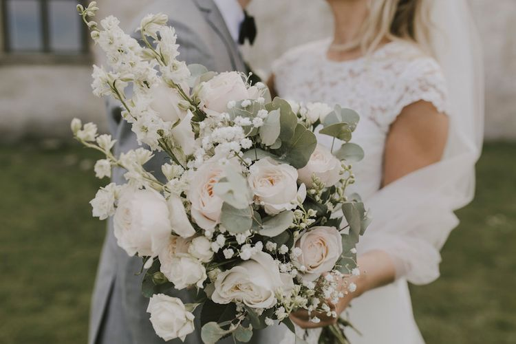 Delicate Pink Rose Bouquet with Eucalyptus & Stocks