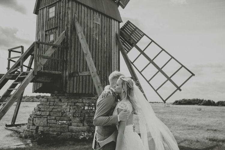 Bride & Groom Windmill Portrait