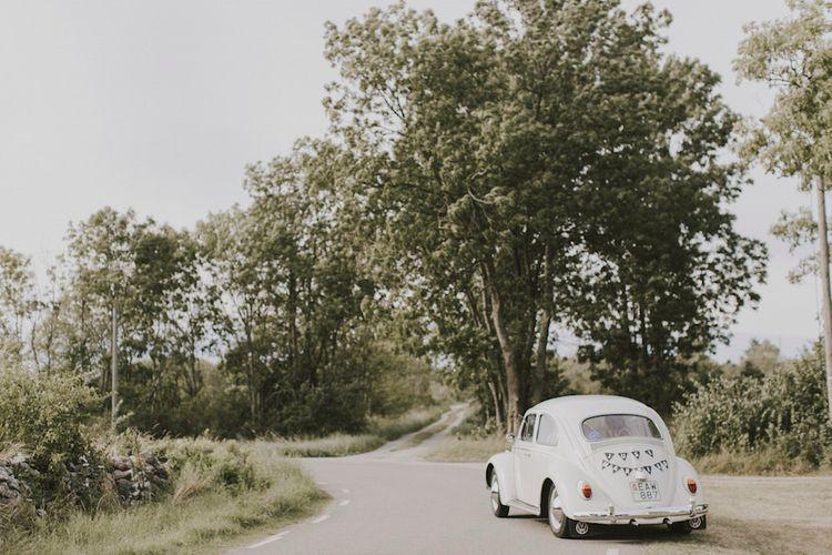 Bride & Groom Beetle Wedding Car