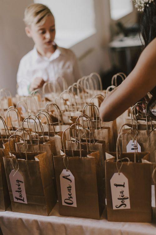 Brown Paper Bag Wedding Favours