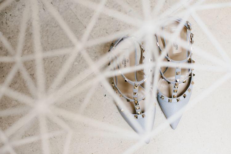 Valentino Rock Stud Wedding Shoes