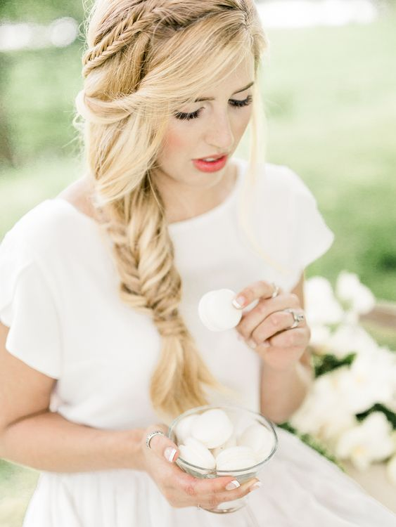 Bride in Ailsa Munro Separates & Fishtail Braid   Rivercatcher Intimate Wedding Inspiration   Jade Leung Wedding Design   Heledd Roberts Photography