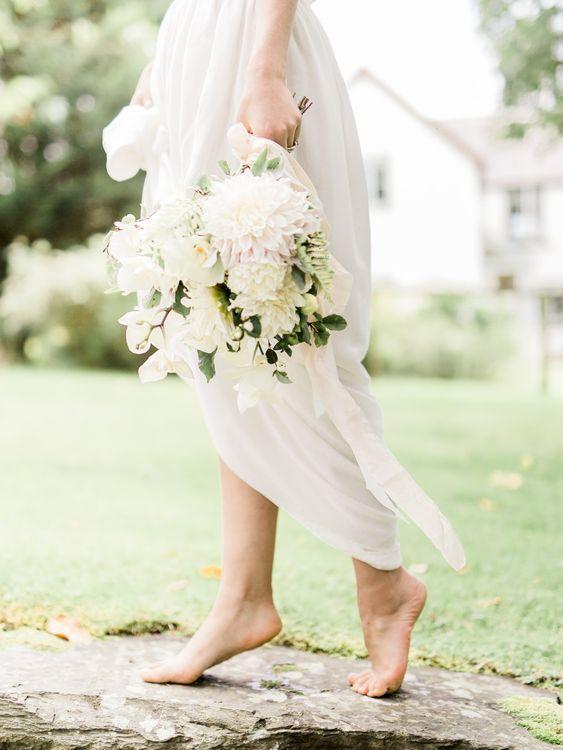 Romantic Blush & White Bouquet   Bride in Ailsa Munro Separates   Rivercatcher Intimate Wedding Inspiration   Jade Leung Wedding Design   Heledd Roberts Photography
