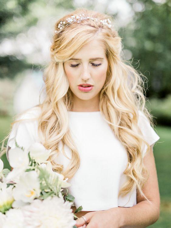 Mermaid Hair   Ailsa Munro Bridal Separates   Rivercatcher Intimate Wedding Inspiration   Jade Leung Wedding Design   Heledd Roberts Photography