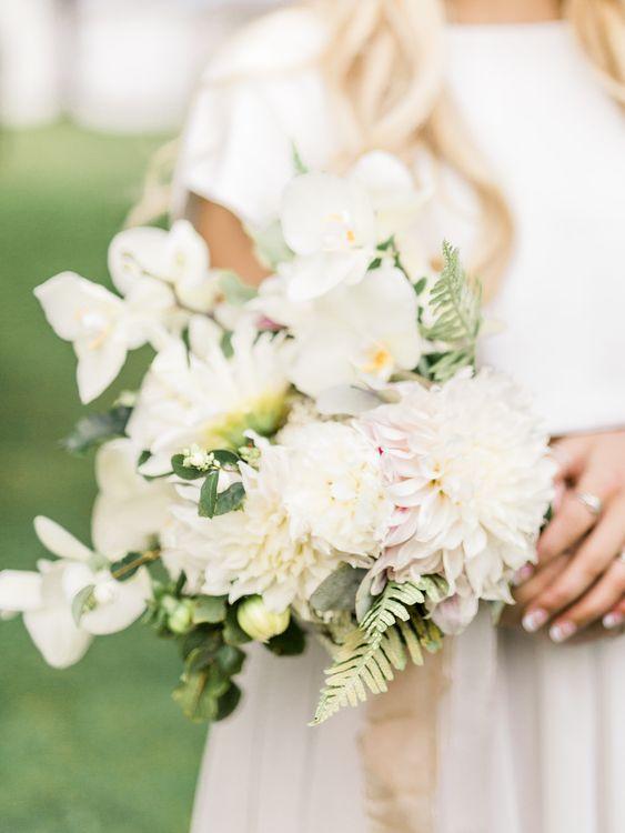Romantic Wedding Bouquet   Rivercatcher Intimate Wedding Inspiration   Jade Leung Wedding Design   Heledd Roberts Photography