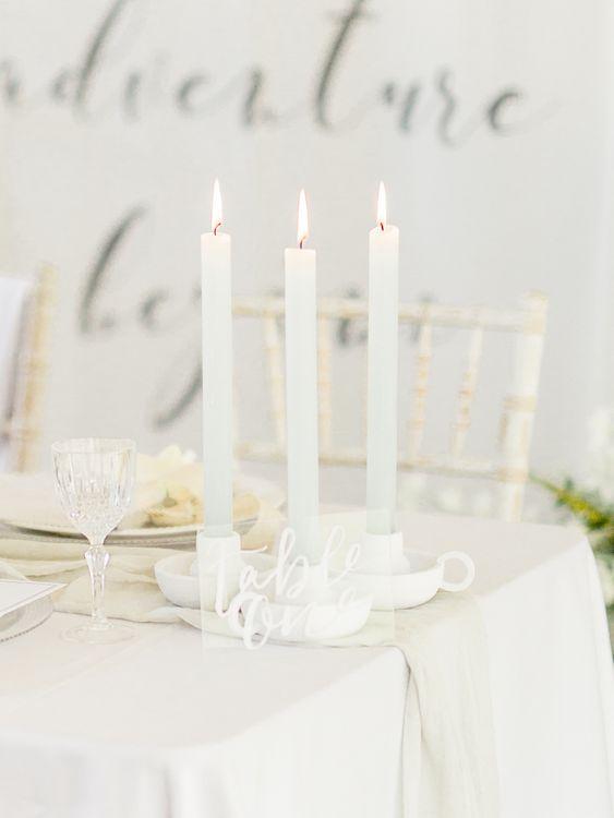 Candlesticks   White & Greenery Decor   Elegant Tablescape   Rivercatcher Intimate Wedding Inspiration   Jade Leung Wedding Design   Heledd Roberts Photography