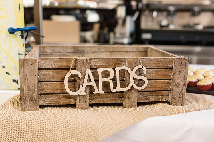 Wooden Crate Wedding Card Box