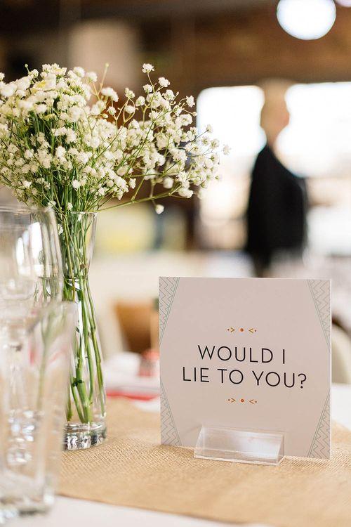 Table Name Wedding Stationery