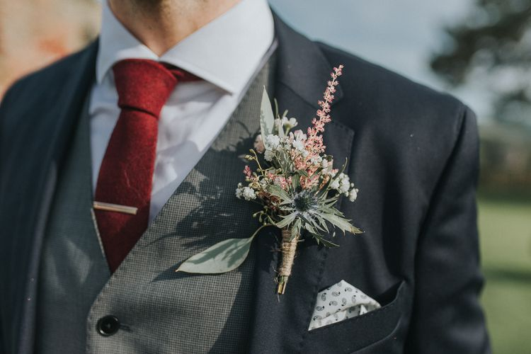 Rustic Buttonhole For Groom