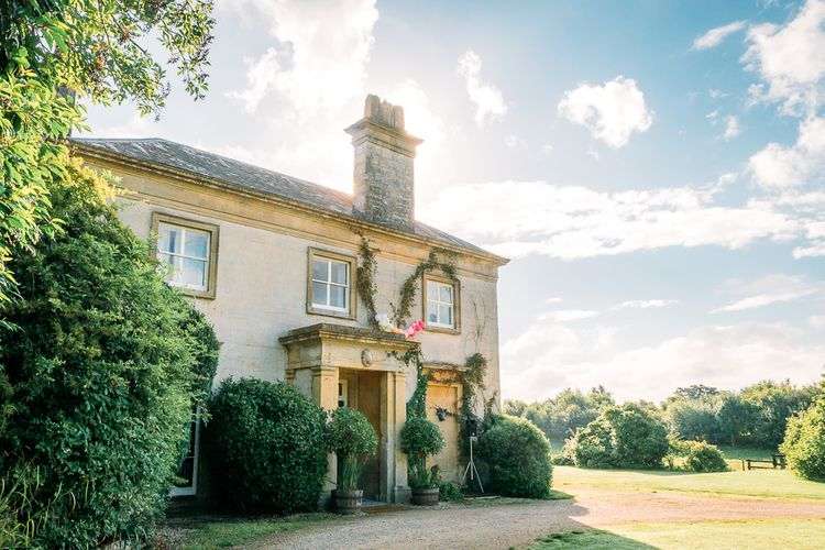 Navy and Natural Country Wedding at Sparkford Hall. Bride wears Angelina Colarusso Photography by Elizaveta Photography.