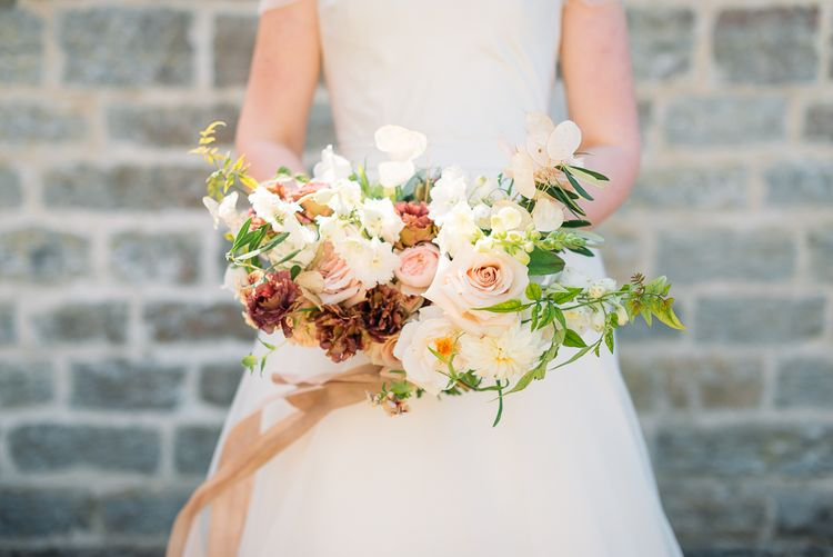 Beautiful bridal bouquet by RMW The List Member Ruby and The Wolf