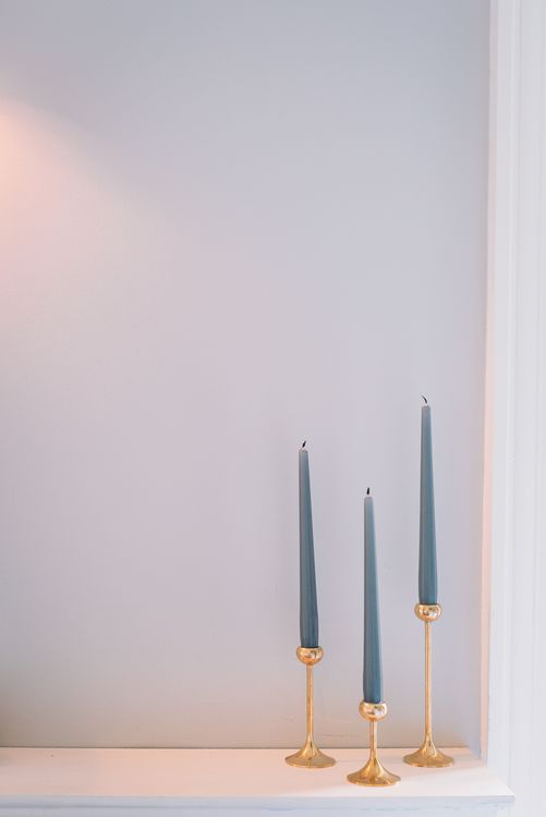 Simple Blue Tapered Candles