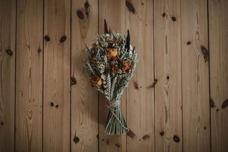 Artisan Dried Flower Bouquet   A Rainy Elopement on the Faroe Islands, North of Scotland   James Frost Photography