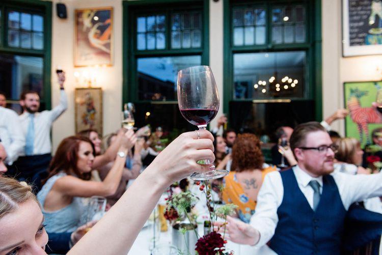 Cheers | 60s Inspired London Pub Wedding | The Peasant | Babb Photo