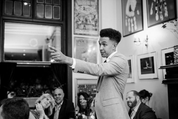 Grooms Speech | 60s Inspired London Pub Wedding | The Peasant | Babb Photo