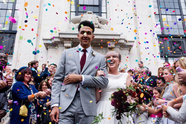 Confetti Moment | Islington Town Hall Wedding Ceremony | Babb Photo
