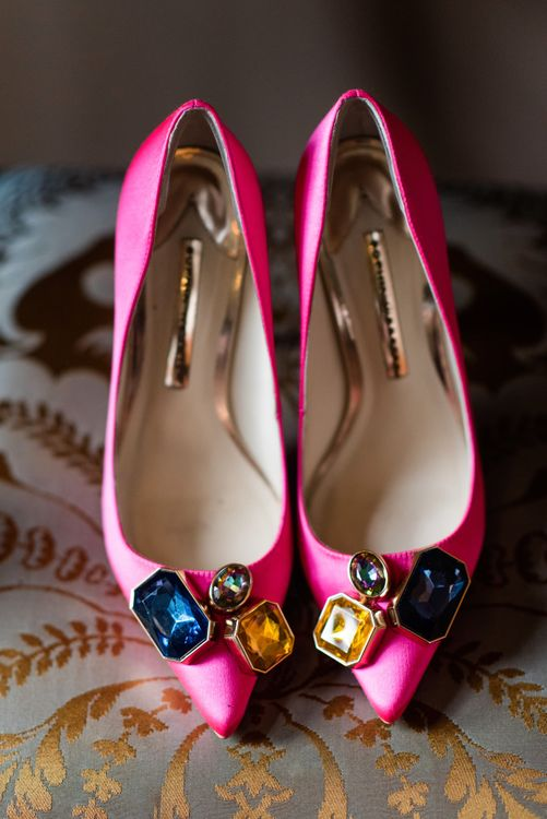 Sophia Webster Bridal Shoes | 60s Inspired London Pub Wedding | The Peasant | Babb Photo