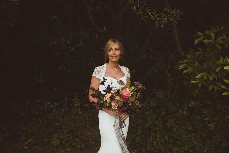 Bride in Sassi Holford Wedding Dress