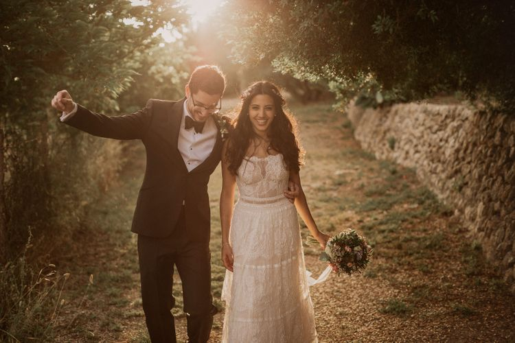 Bride in Lihi Hod Bridal Gown | Groom in Richard James Savile Row Suit | Multicultural Wedding at Els Calderers in Mallorca, Spain | Pablo Laguia Photography | HUMá06 Film