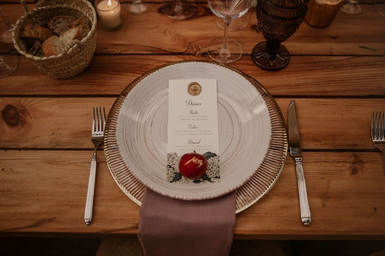 Place Setting | Multicultural Wedding at Els Calderers in Mallorca, Spain | Pablo Laguia Photography | HUMá06 Film