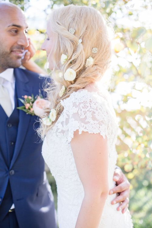 Wedding Hair Plaited/Braided With Flowers