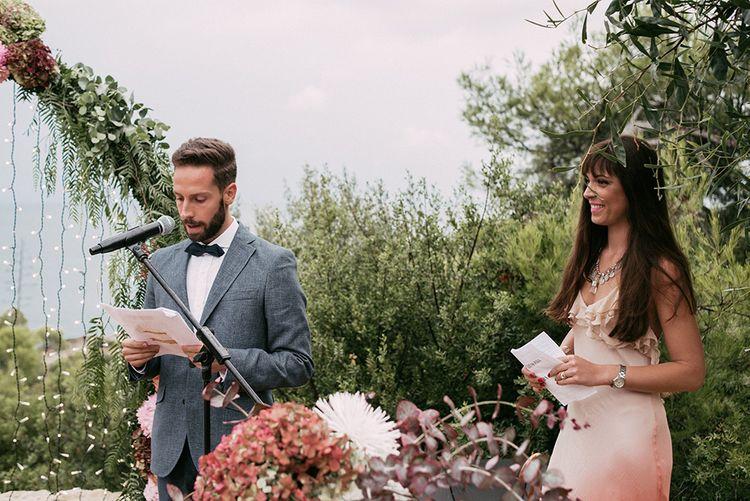 Wedding Ceremony   Stylish Outdoor Wedding at Masia Casa del Mar in Barcelona, Spain   Sara Lobla Photography   Made in Video Film